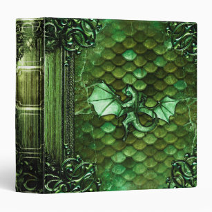Pretty Dragon Scales Ancient Tome Magic Book 3 Ring Binder