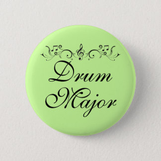Pretty Drum Major Marching Band Gift Button