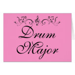 Pretty Drum Major Marching Band Gift Greeting Card
