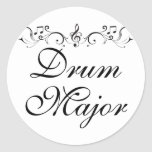 Pretty Drum Major Marching Band Gift Round Stickers