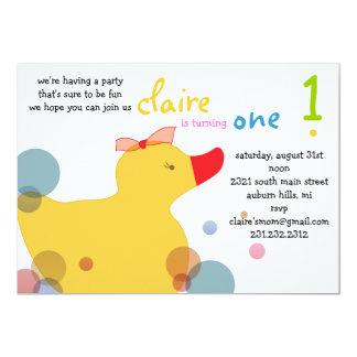 Pretty Ducky - Beach Birthday Party Card