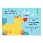 Pretty Ducky - blue birthday invitations