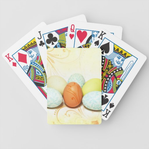 Pretty Easter Eggs Bicycle Playing Cards