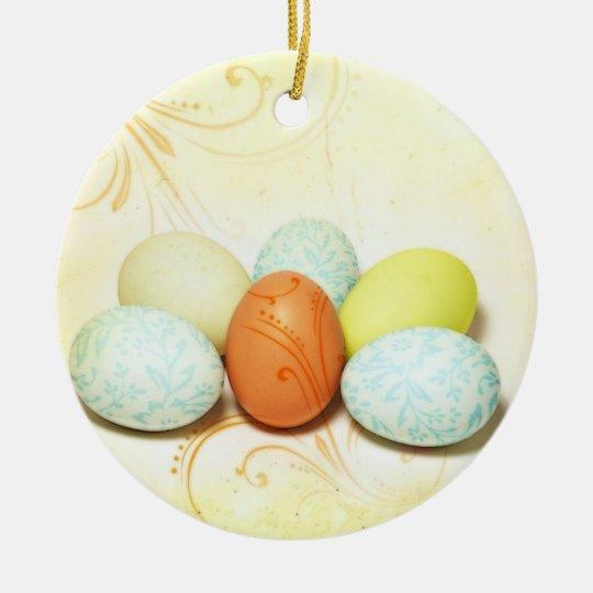 Pretty Easter Eggs Ceramic Ornament