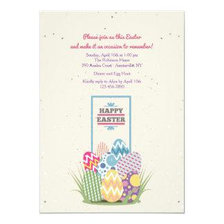 Pretty Easter Eggs Invitation