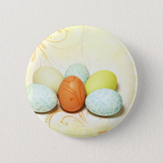 Pretty Easter Eggs Pinback Button