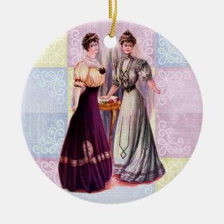 Pretty Edwardian Fashions Ceramic Ornament