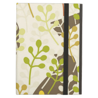 Pretty Elegant Birds in Leaf Treetops Pattern Case For iPad Air