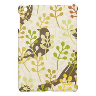 Pretty Elegant Birds in Leaf Treetops Pattern Case For The iPad Mini