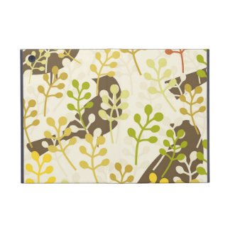 Pretty Elegant Birds in Leaf Treetops Pattern Cover For iPad Mini