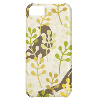 Pretty Elegant Birds in Leaf Treetops Pattern Cover For iPhone 5C