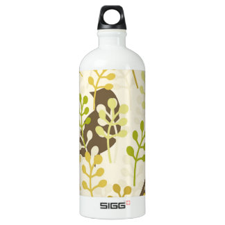 Pretty Elegant Birds in Leaf Treetops Pattern Water Bottle