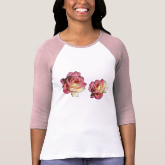 Pretty, elegant, classic, girly pink, yellow rose t-shirts