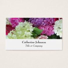 Pretty Elegant Flowers Florist  Professional White Business Card at Zazzle