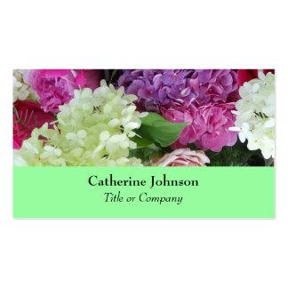 Pretty Elegant Flowers Wedding Planner or Florist Business Card Template
