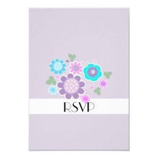 Pretty Elegant Pastel Spring Posy Motif RSVP Card