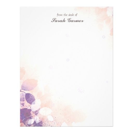 Pretty Writing Paper Template Pretty elegant spring leaves
