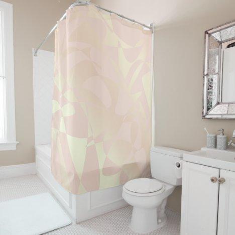 Pretty elegant stylish rose gold pattern shower curtain
