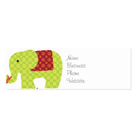 Pretty Elephants in Love Holding Trunks Flowers Business Cards