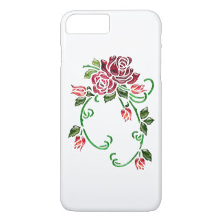 Pretty Embossed Glass Roses iPhone 7 Plus Case