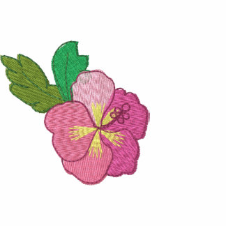 Pretty Embroidered Hibiscus