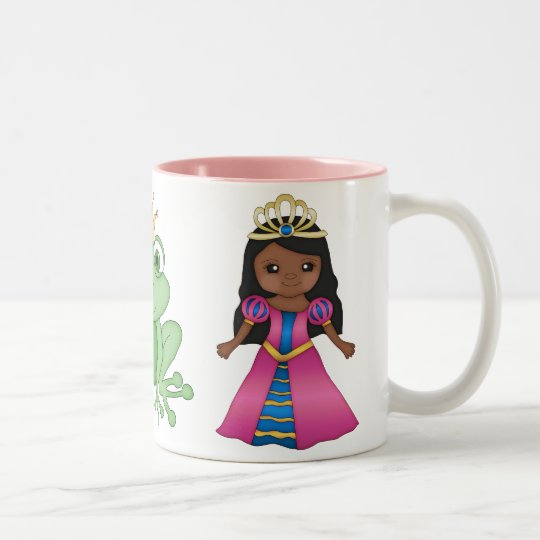 Pretty Ethnic Princess & Prince Frog Mug