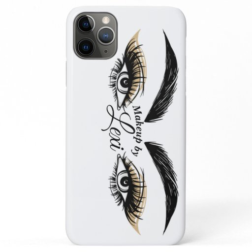 Pretty Eyes Beauty Salon Makeup Eyelashes Lashes iPhone 11 Pro Max Case