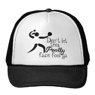 Pretty Face Softball Saying Trucker Hat