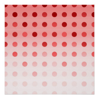 Pretty Faded Red Simple Polka Dot Pattern Poster