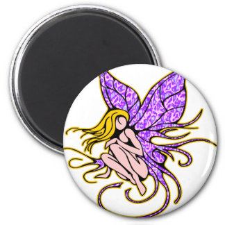 Pretty Fairie 2 Inch Round Magnet