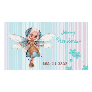 Pretty Fairy Girl's calling card Business Cards