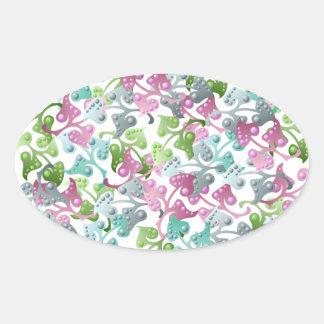 Pretty Fairy Leaf Pattern Sticker
