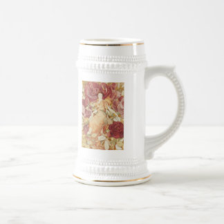 Pretty Fairy Nymph in Roses Beer Stein