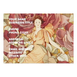 Pretty Fairy Nymph in Roses Large Business Cards (Pack Of 100)