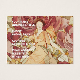 Pretty Fairy Nymph in Roses Business Card