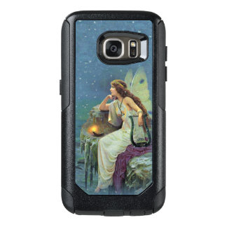 Pretty Fairy on cliff Lit Candle musical Harp OtterBox Samsung Galaxy S7 Case
