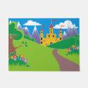 Pretty Fairy Princess Castle Doormat