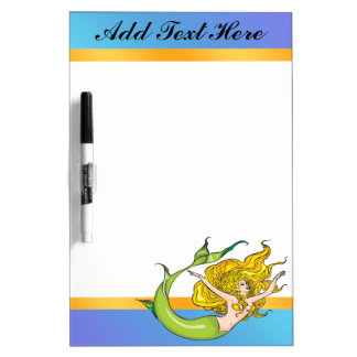 Pretty Fairy Tale Mermaid Dry Erase Board