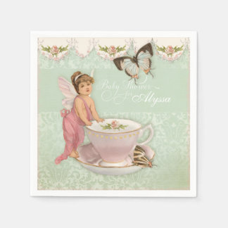 Pretty Fairy Teacup Tea Party Baby Shower Decor Paper Napkin