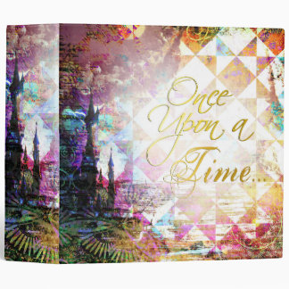Pretty Fairytale Once Upon a Time 3 Ring Binder