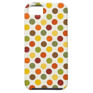 Pretty Fall Autumn Colors Polka Dots Pattern iPhone SE/5/5s Case
