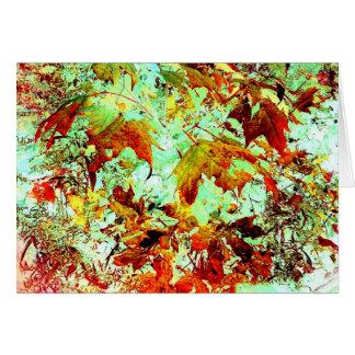 Pretty Fall Foliage Abstract Art Photo Blank Insid Card