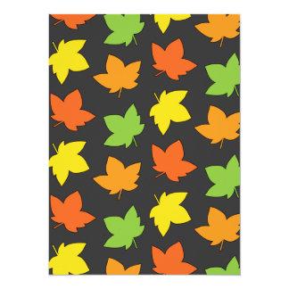 Pretty Fall Foliage Autumn Harvest Pattern Card