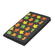 Pretty Fall Foliage Autumn Harvest Pattern Trifold Wallet