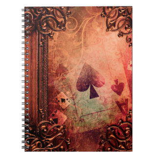 Pretty Fantasy Ace of Spades Ancient Tome Notebook