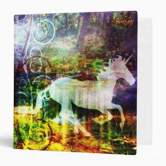 Pretty Fantasy Land Fairy Tale Unicorn Binder