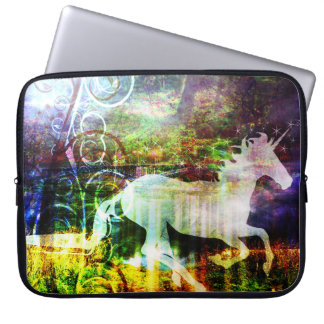 Pretty Fantasy Land Fairy Tale Unicorn Laptop Sleeve