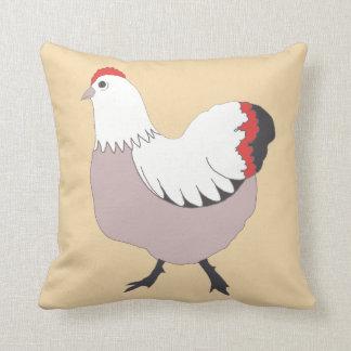 "Pretty Farm Hen, Polyester Throw Pillow 16"" x 16"""