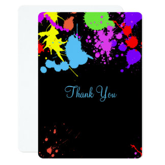 Pretty, Faux Neon, Glow in the Dark, Thank You Card
