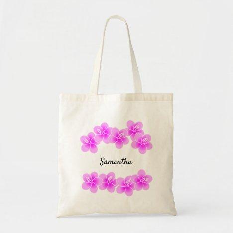 Pretty Feminine Cerise Floral Tote Bag